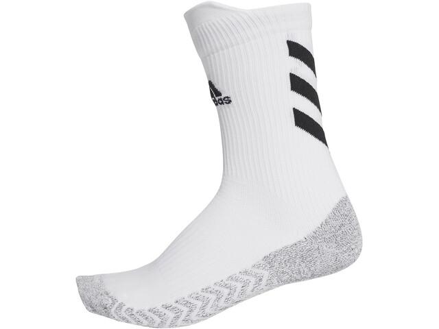 adidas Alphaskin Traxion Crew Socks, blanco/negro